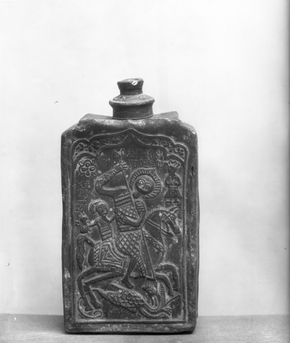 Flask with an Image of Saint George Killing the Dragon