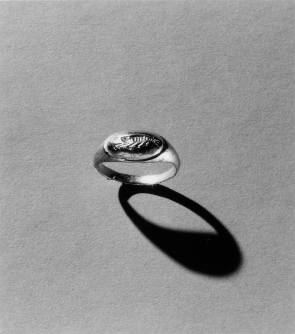 Ring Engraved with a Crayfish