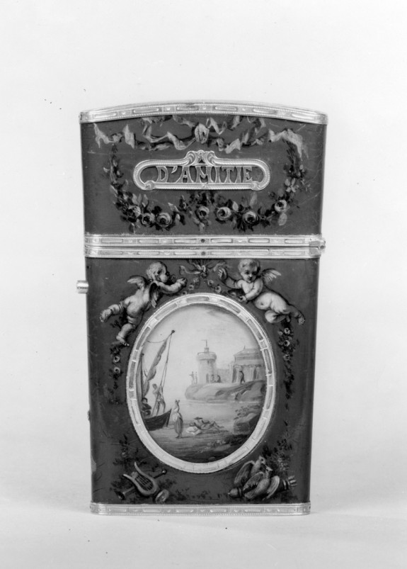 Tablet Case with Putti and Garlands/; Mediterranean Scene