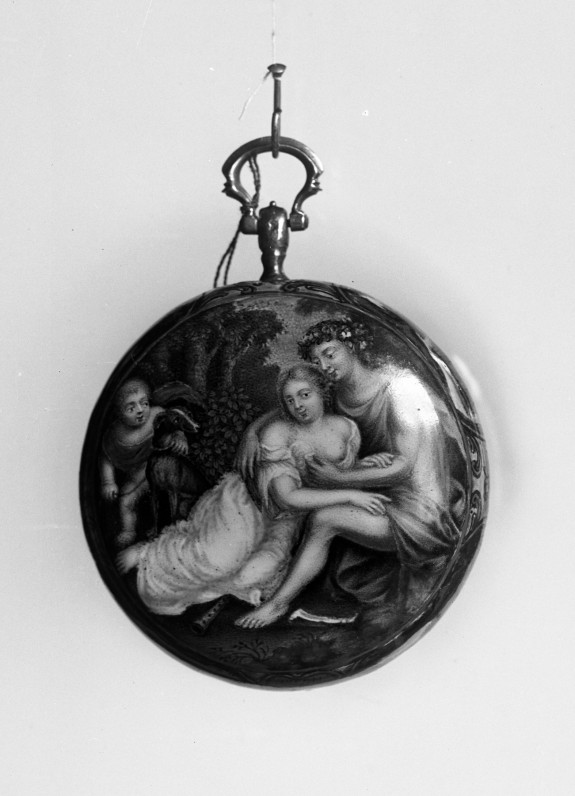 Enameled Watch with Venus and Adonis