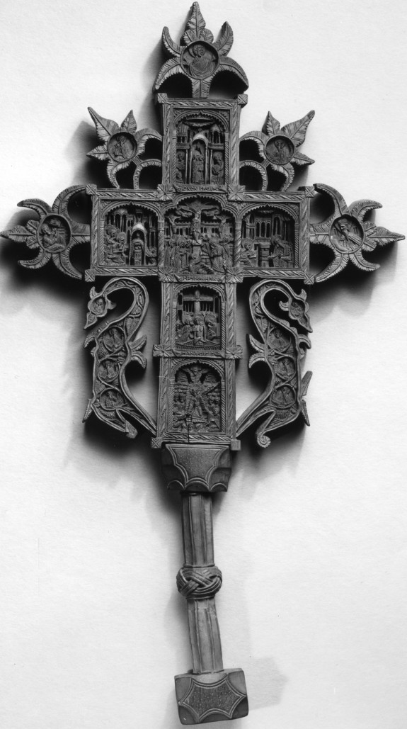 Cross with Scenes from the Life of Christ