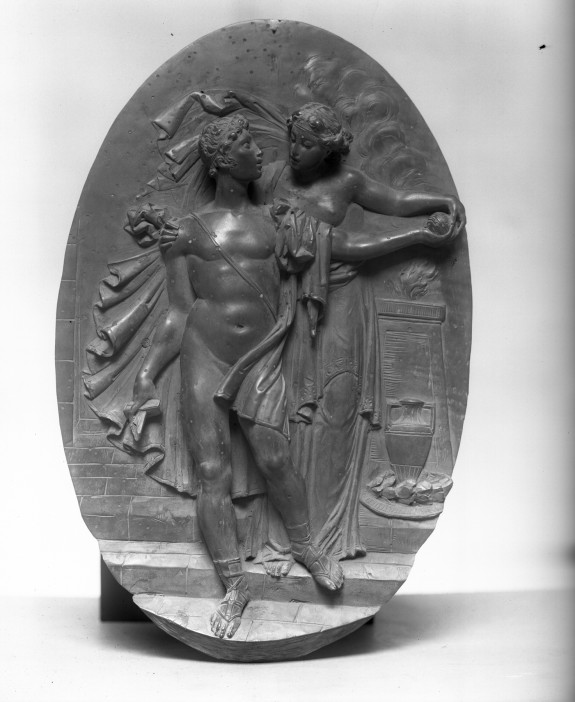 Oval Relief depicting Theseus and Ariadne