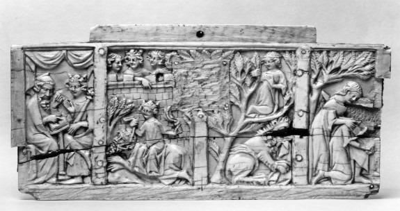 Box Front with Scenes of Alexander and Pyramus