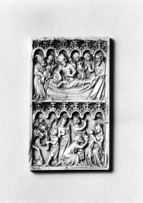Panel with the Anointing of Christ's Body and Adoration of the Magi