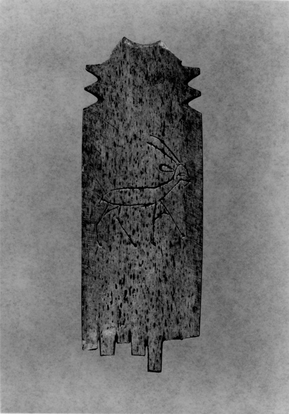 Comb Fragment with a Depiction of a Horned Quadruped