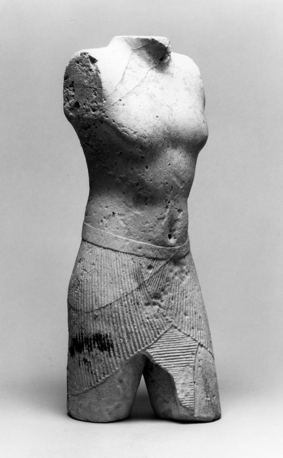 Torso of a King or God with Squares Incised on All Sections
