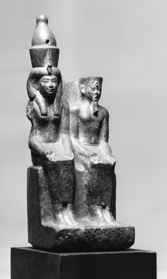 Amun and Mut Seated