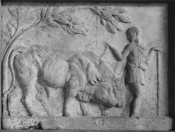 Relief of a Herdsman and Oxen