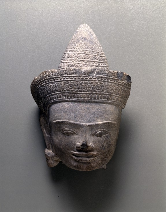 Head of a Crowned Deity, Probably the Buddha