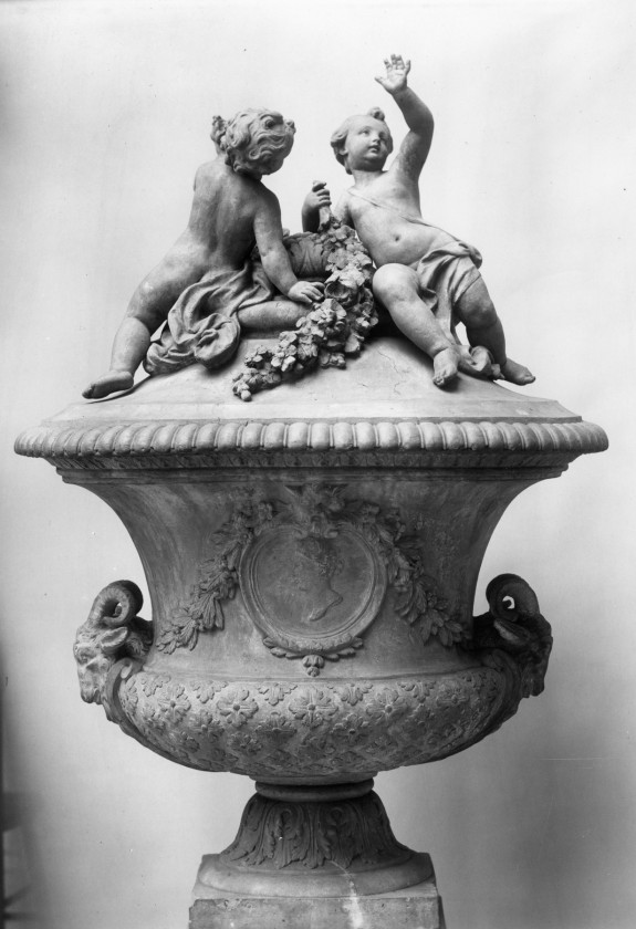 Urn with Putti
