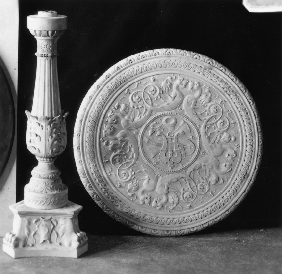 Top from a Table with Acanthus Leaves and a Musical Trophy