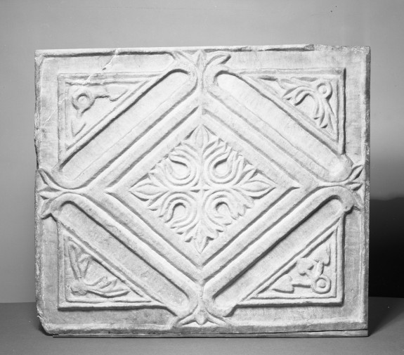 Relief with Lozenge and Floral Design