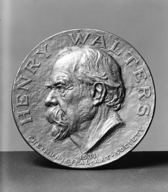 Circular Plaque with Henry Walters