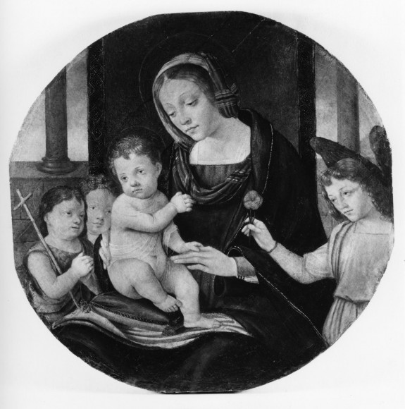 Madonna and Child with the Young St. John and Two Angels