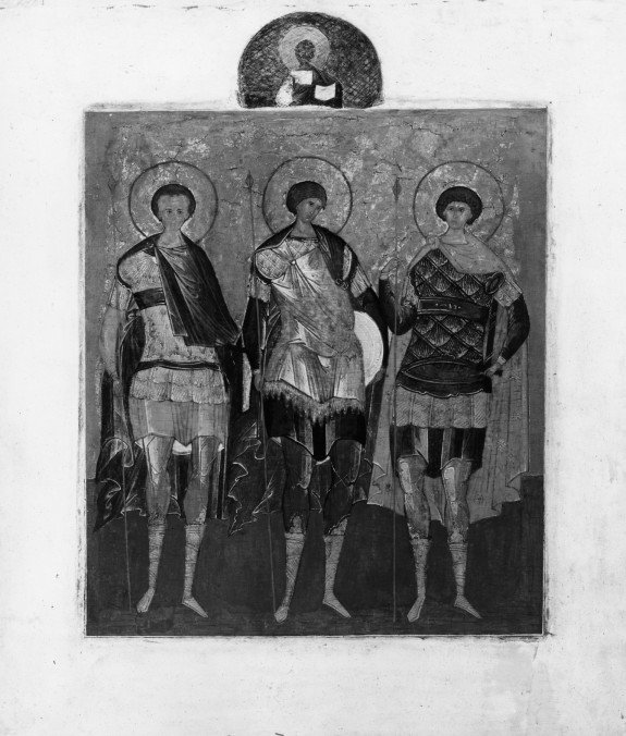 Saint Demetrius, Mercurius, and George