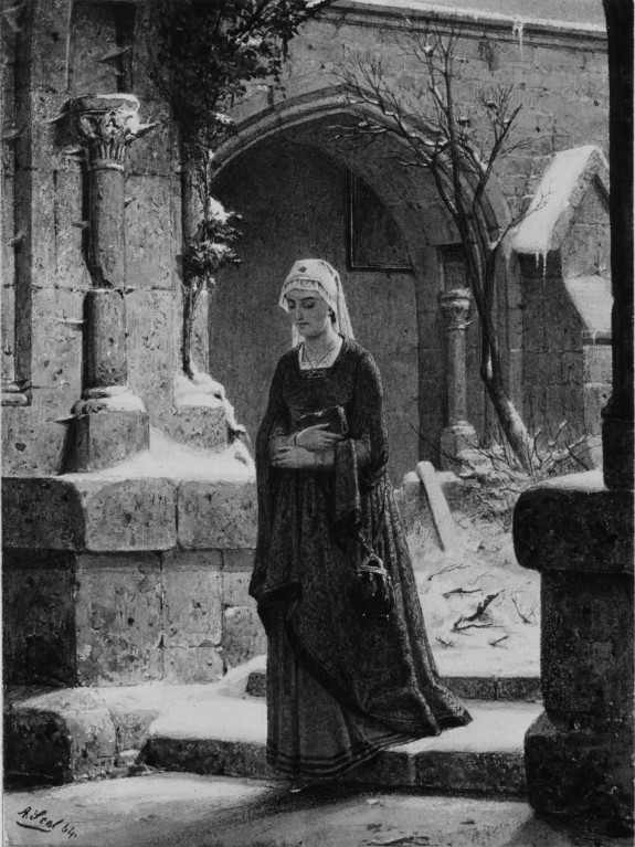 medieval cloister wintertime 183 the walters art museum