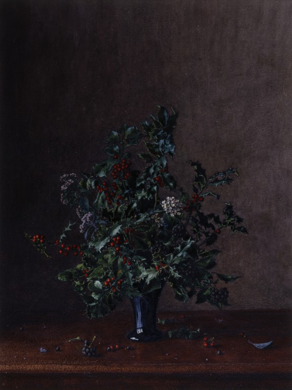 Vase of Holly