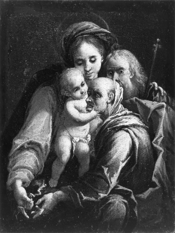 The Holy Family with a Saint