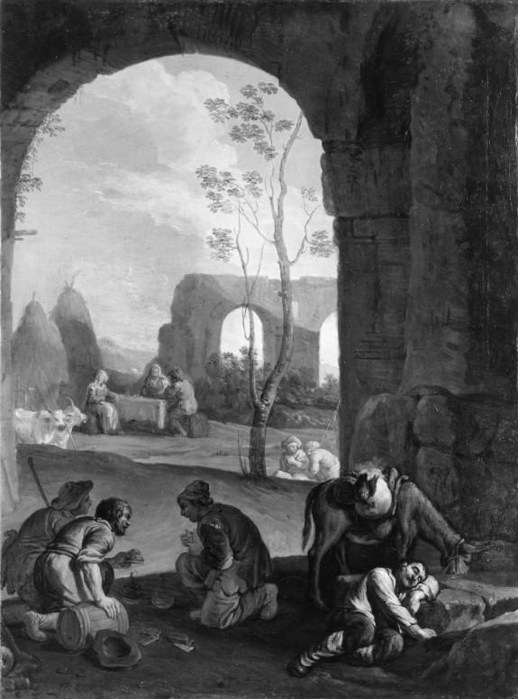 Peasants near Roman Ruins