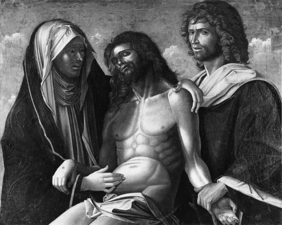 The Dead Christ with the Virgin and Saint John the Evangelist