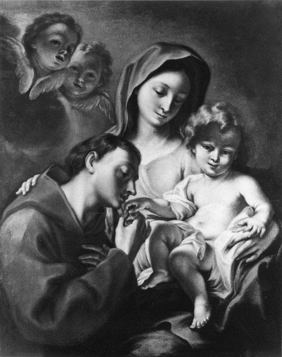 Madonna and Child with a Franciscan Saint