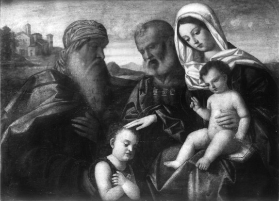 Holy Family with Zacharias and the Young Saint John the Baptist