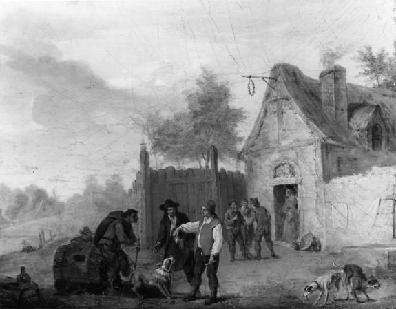 Scene in a Tavern Yard