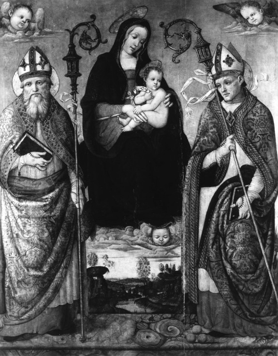 Madonna and Child with St. Nicholas of Bari and a Bishop Saint
