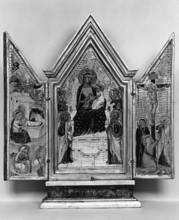 Madonna and Child Enthroned with Saints; the Nativity; the Crucifixion