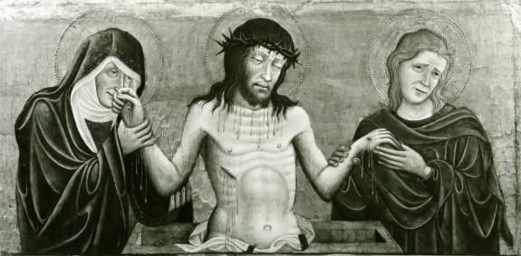 Christ as the Man of Sorrows between the Virgin and St. John the Evangelist