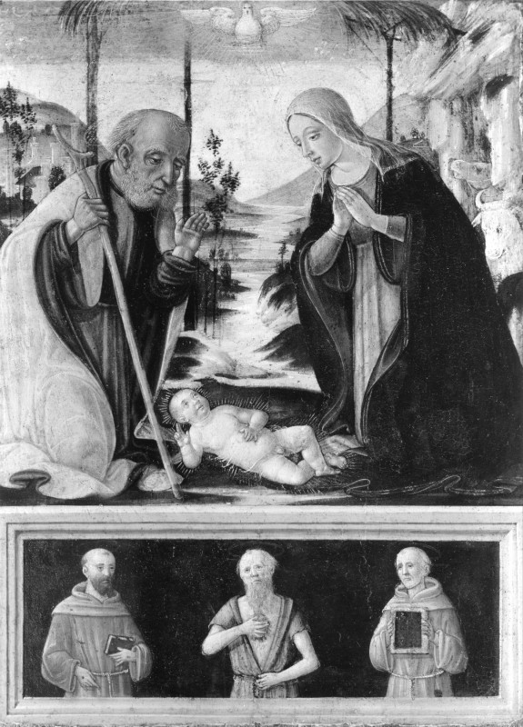 The Nativity and Saints
