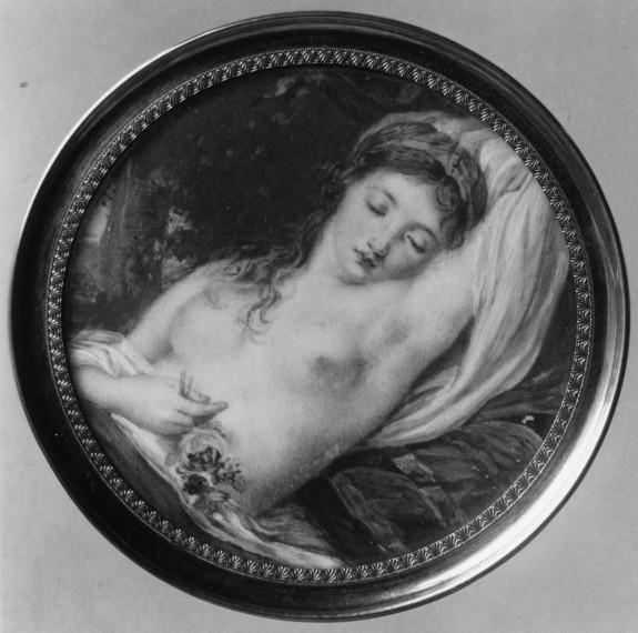 Half-Length Nude Girl Asleep