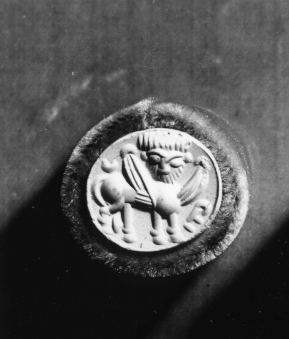 Stamp Seal with a Lamassu