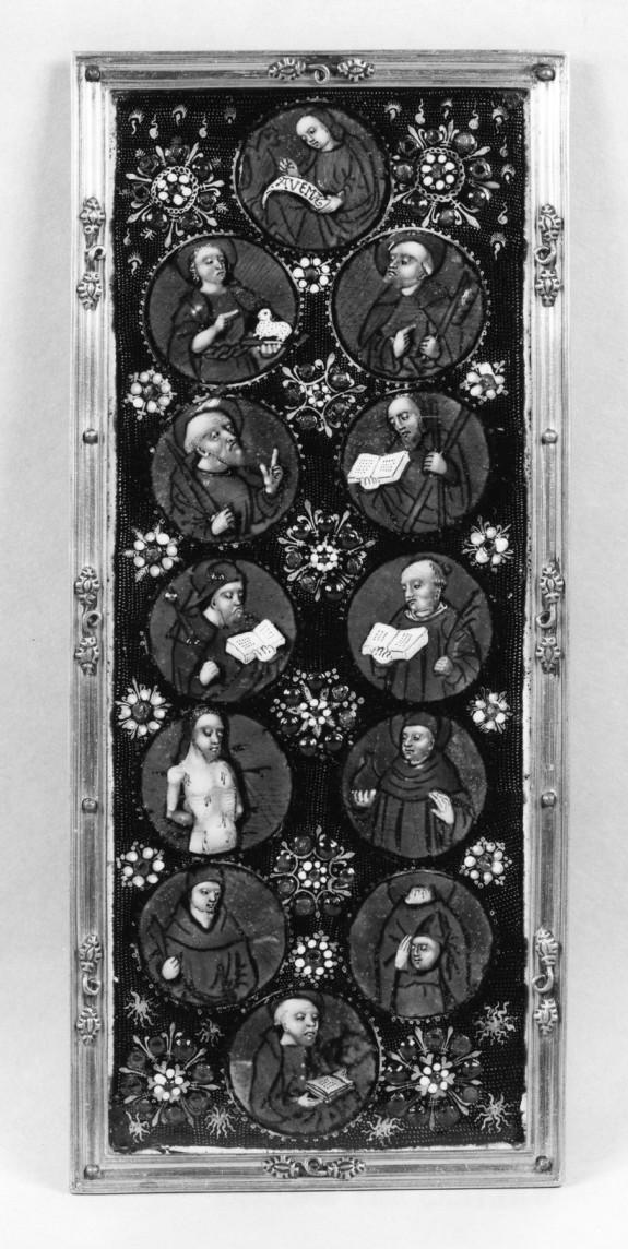 Left Wing of a Triptych: Twelve Saints