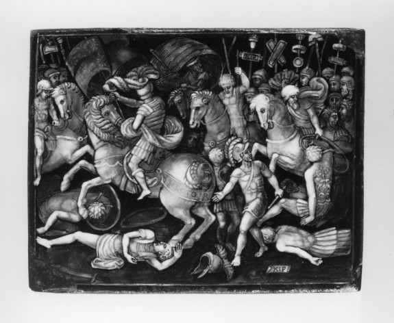 Plaque with Cavalry Battle between Greeks and Trojans