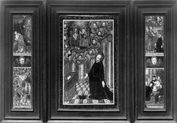 Triptych with the Life of St. Ignatious of Loyola