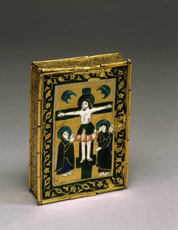 Book Case with the Crucifixion and the Harrowing of Hell