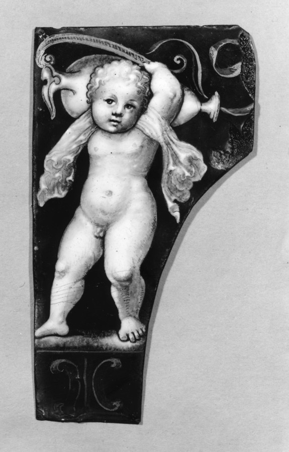 Plaque with Putto Supporting a Vase