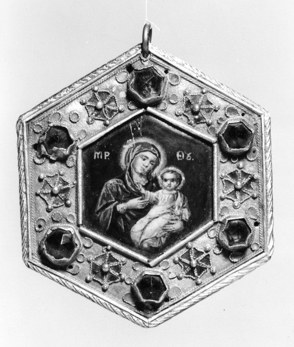 Encoplion with the Virgin and Child and the Crucifixion
