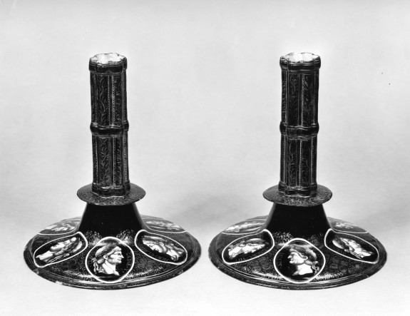 Pair of Candlesticks: The Twelve Caesars