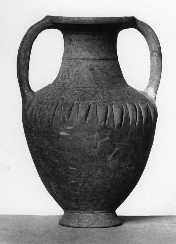 Amphora with Stamped and Incised Decoration