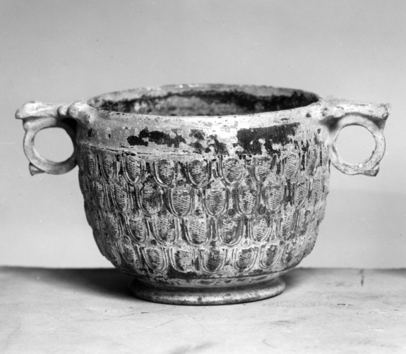 Skyphos with Pinecone-Pattern Decoration in Relief