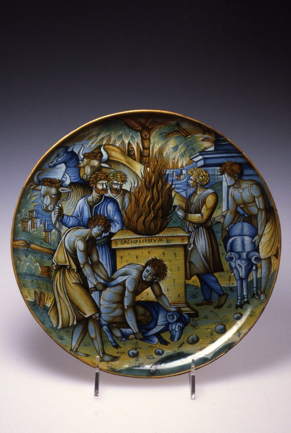 Footed Dish with the Sacrifice of Noah