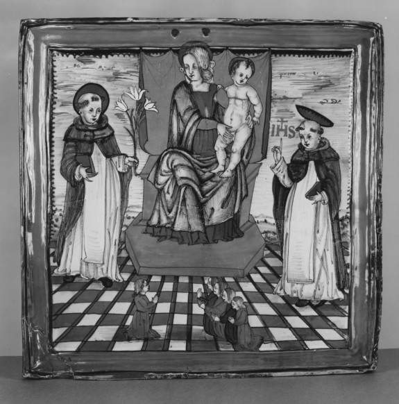 Votive Plaque with the Virgin and Child and Saints Dominic and Thomas Aquinas