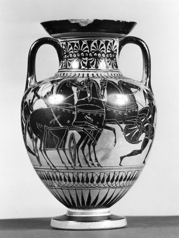 Amphora with Chariot and Amazon