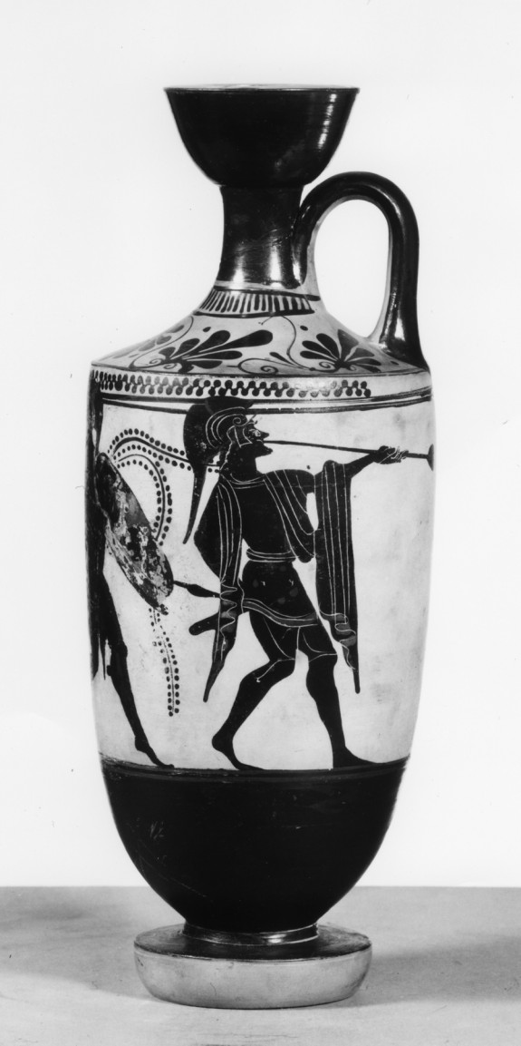 Lekythos with Warriors