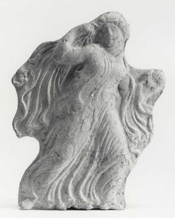 Appliqué Relief of a Running Maiden