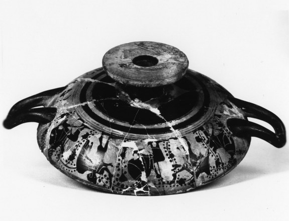 Kylix with Figures Surrounded by Vines