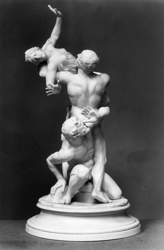 Myth/woman carried by man