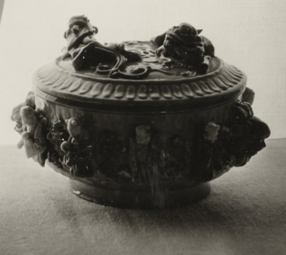 Covered Bowl with Lions' Head Handles